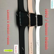 Smart Watch IWO 7 serce stopa 1 1 42mm Smartwatch ładowania bezprzewodowego Bluetooth muzyka zegarek dla iOS Androids postawy polityczne w IWO 5 6 tanie tanio MTK2502 Elektroniczny Passometer Uśpienia tracker Duże Trzy Igły Tętna Tracker Kalkulatory Stały Kalendarz Tracker fitness