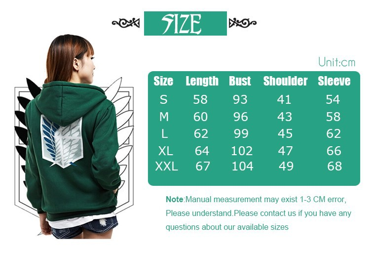 size3 Attack on Titan Hoodie