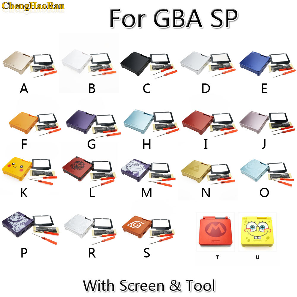 1 Set Cartoon édition limitée boîtier complet coque de remplacement pour Nintendo Gameboy Advance SP pour GBA SP housse de Console de jeu