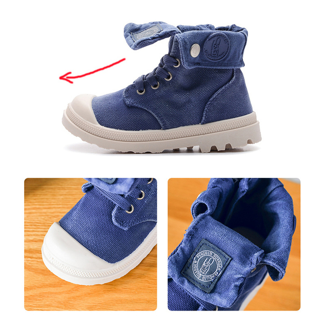 2019 Spring Autumn New Kids Sneakers High Children's Canvas Shoes Boys And Girls Child Baby Martin Boots Casual Military Boots 1