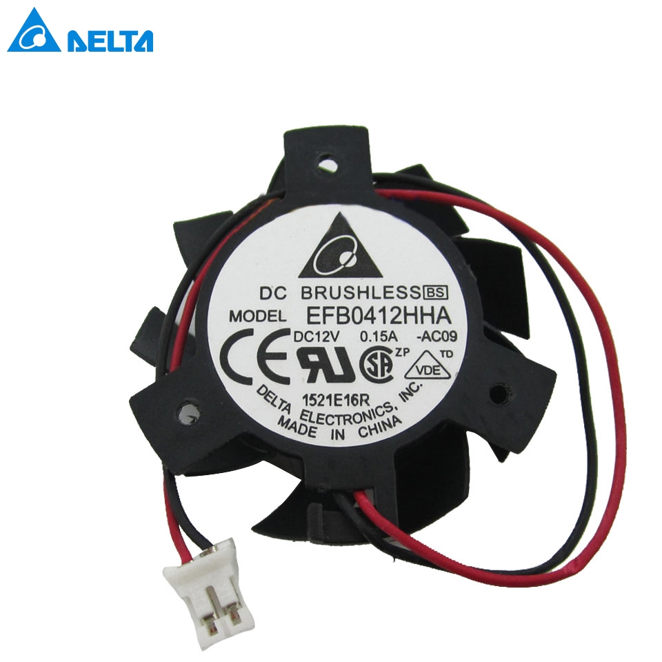 video card New EFB0412HHA -AC09 Graphics card cooling fan 12V 0.15A 36mm diameter blades new fitstd 75mm fd7010h12s fd8015u12s dc 12v 0 35a 0 5amp 4pin graphics video card cooling fan