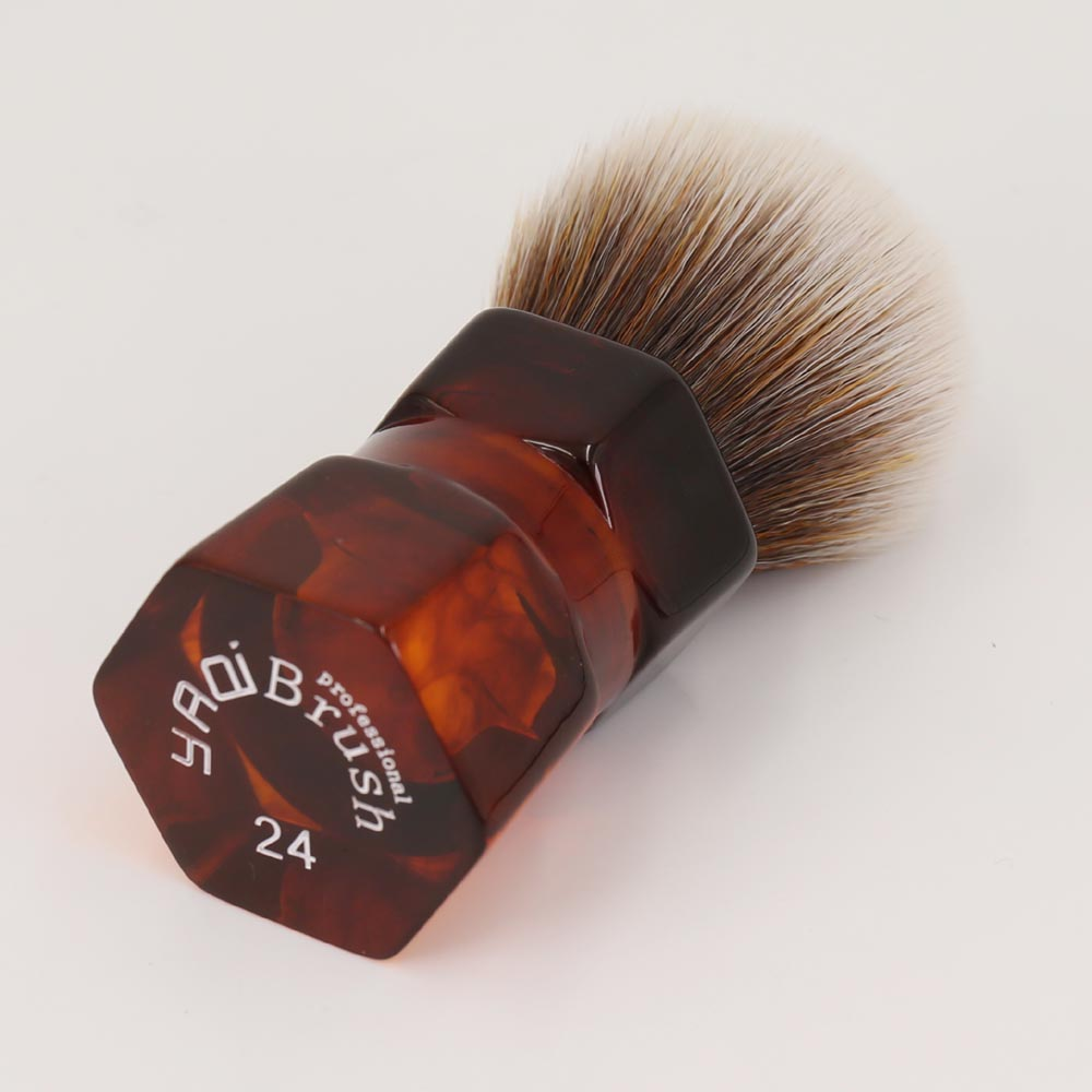 Yaqi 24mm Moka Express Synthetic Hair Shaving Brush 1