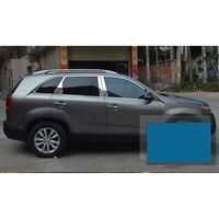lsrtw2017 304 stainless steel car window trims for kia sorento 2009 2010 2011 2012 2013 2014