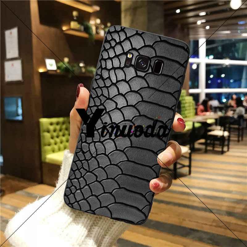 Yinuoda נחש עור מכירה לוהטת אופנה עיצוב תא מקרה עבור גלקסי s5 s6 קצה s7 קצה s8 בתוספת s9 בתוספת