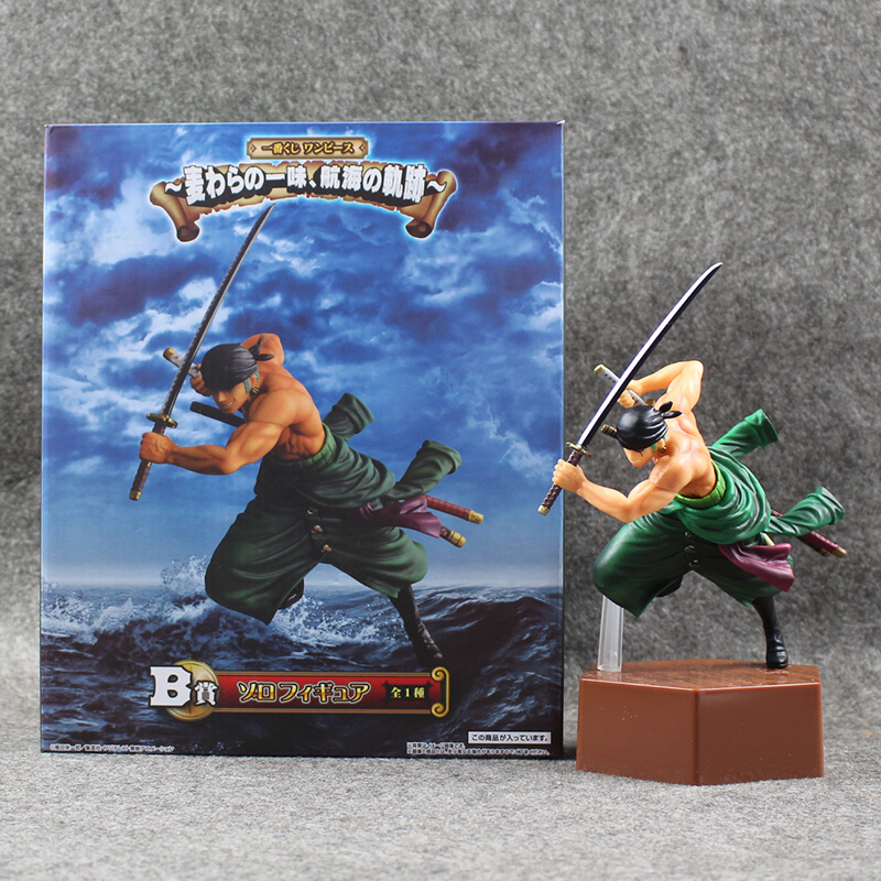 Anime One Piece Figure Roronoa Zoro PVC Figure Battle Version Cool Model for Collection with Box 20.5cm Doll Free Shipping free shipping 1pcs sex goddess mordina princess pvc figure doll model tall 18cm with box for collection