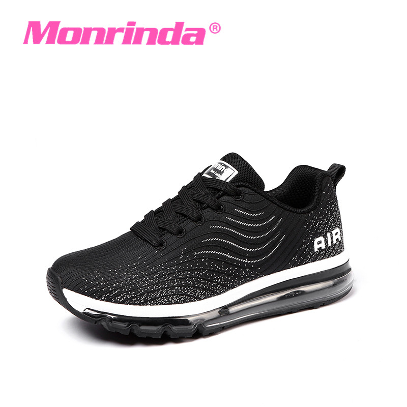 New women running air cushion shoes light women sneakers soft breathable Run Athletic Trainers Black Zapatillas