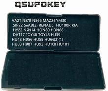 Qsupokey genuíno lishi picareta ferramenta de reparo ferramentas serralheiro hu39 hu43 hu56 hu58 hu66 hu83 hu87 hu92 hu100 para carro/automóvel (não 2in1)
