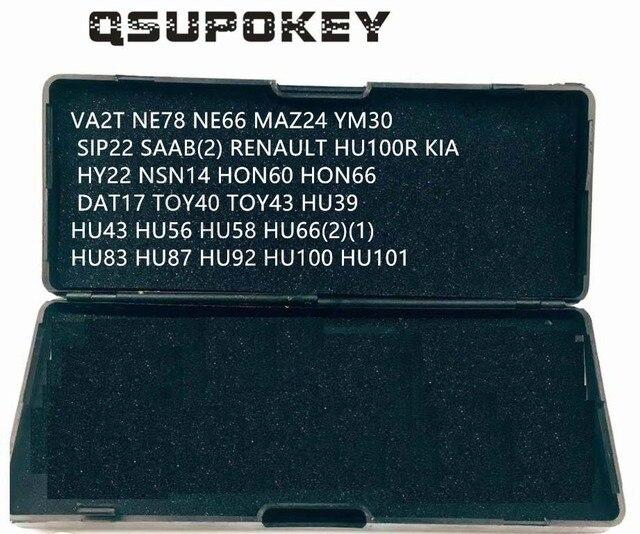 Qsupokey genuíno lishi picareta ferramenta de reparo ferramentas serralheiro va2t ne78 ne66 maz24 sip22 renault hu100 hu66 para carro/automóvel (não 2in1)