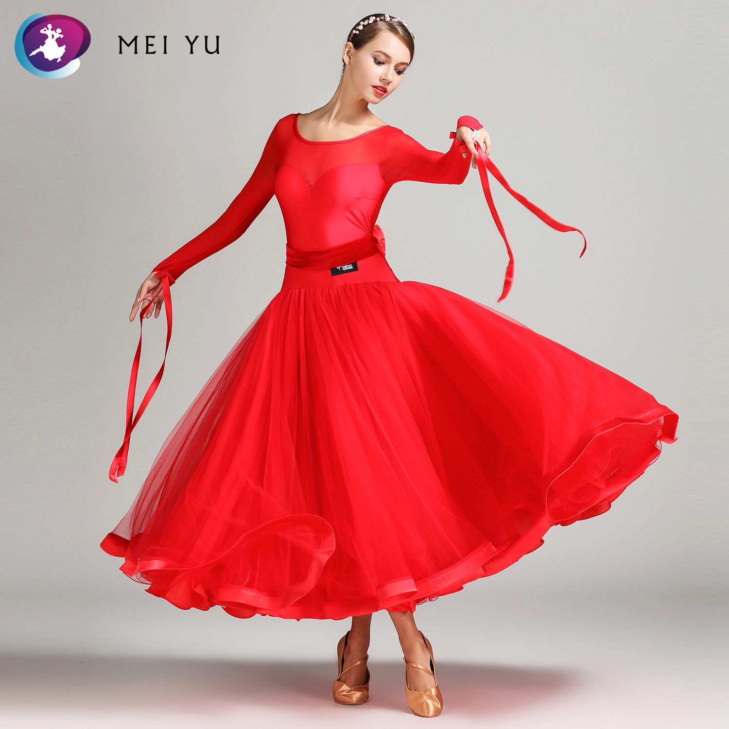 Logical Mei Yu S7007 Modern Dance Costume Women Lady Adult Dancewear Waltzing Tango Ballroom Costume Evening Party Dress Ball Gown Superior Materials Novelty & Special Use