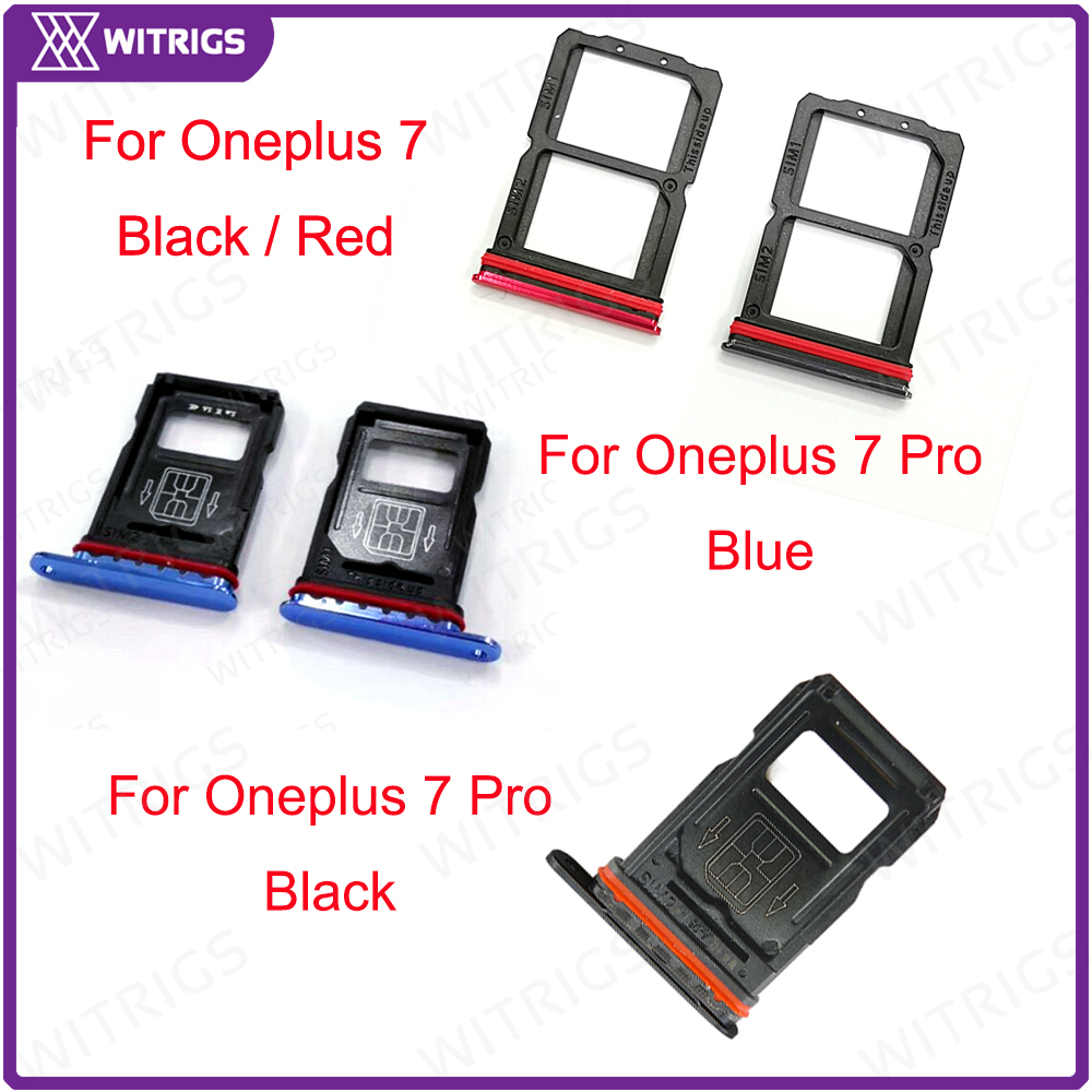 Witrigs For OnePlus 7 Pro SIM Card Tray Holder Slot Socket For One Plus 7 7Pro