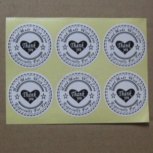 New! 100pcs/lot Round 30mm Sticker, ( hand made with love thank you especially for )label,White Material Adhesive stickers