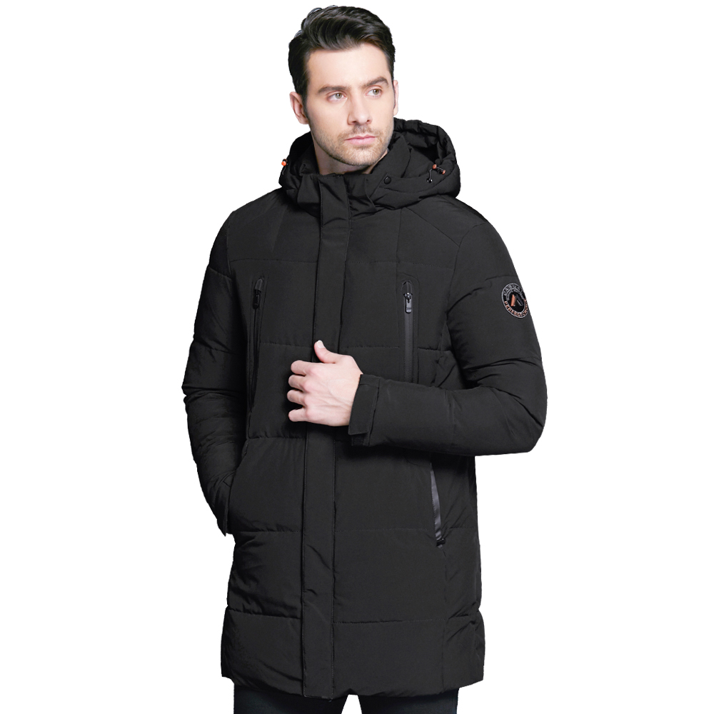 ICEbear 2018 Men's Apparel Winter Jacket Men Mid-Long Slim Thick Warm Top Quality Waterproof Zipper Brand Coat For Men 17MD942D danjue genuine leather men solid men s purse money carteira bi fold wallet brand high quality card holder