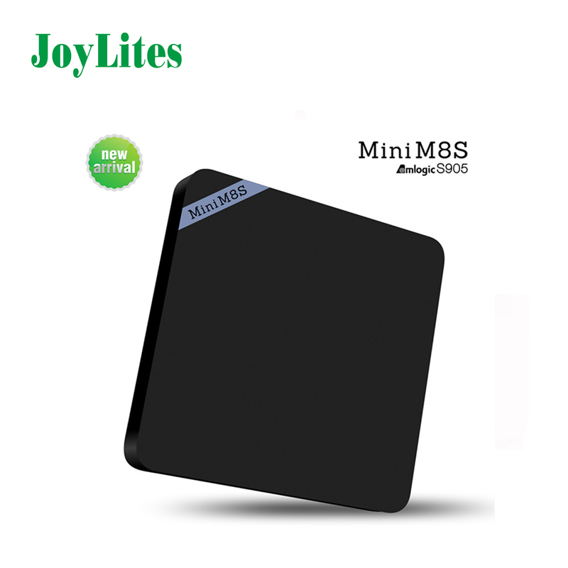 Mini M8S Android 4K Tv Box Amlogic S905 Android 5.1 Quad Core WiFi BT 4.0 RAM 2GB ROM 8GB Set Top Box Media Player  mesuvida k6 tv box amlogic s812 android 5 1 1 quad core 2 4ghz 5ghz wifi bluetooth 4 0 2gb ram 8gb rom set top box media player