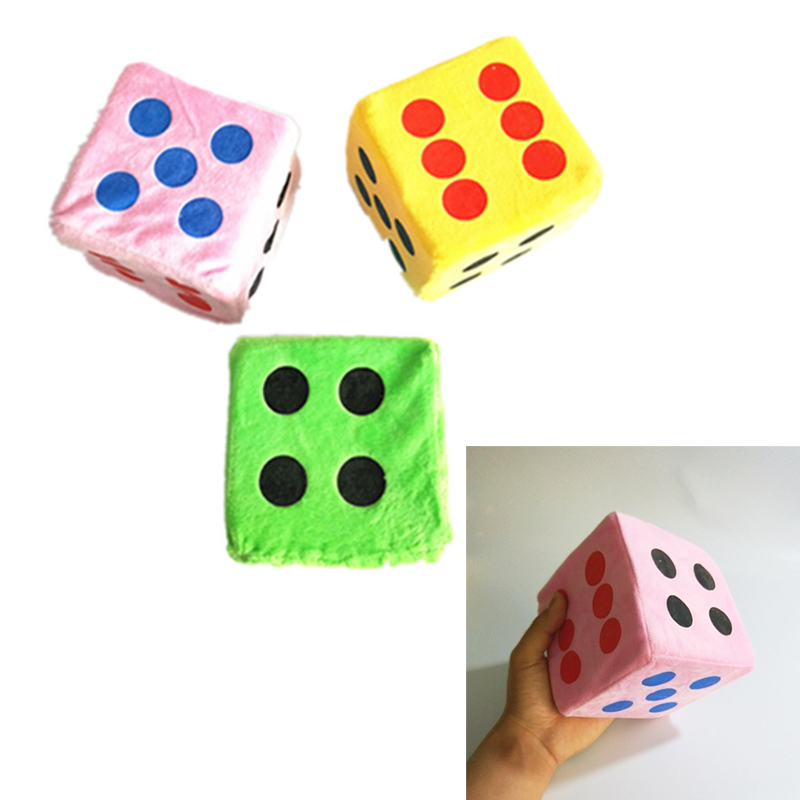 Super Big 12CM Dice Colorful Giant Sponge Short Plush Dice Six Sided Dice Toy For Party Playing School Kids Funny Game 3 Colors