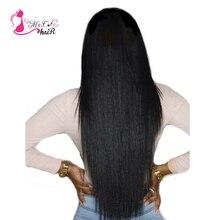 Бразильские прямые волосы 1 Комплект MS Cat Продукты волос 100% Человеческие волосы Комплект S натуральный Цвет не Волосы Remy ткань