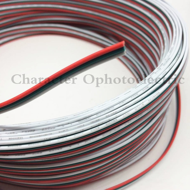 2M 5M 10M 20M Tinned copper 22AWG 3 pin cable PVC insulated wire 3P ...