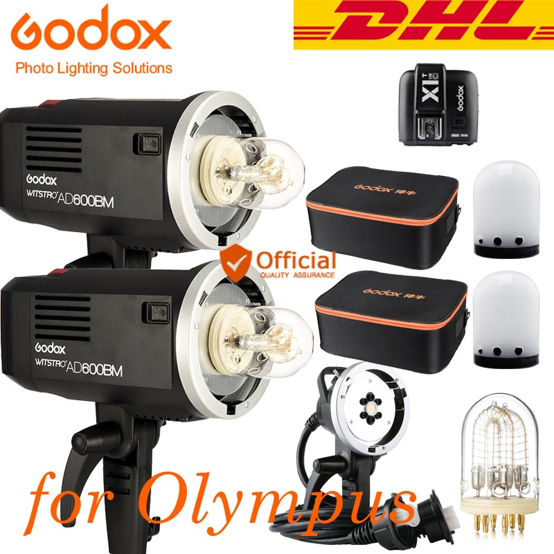 DHL Godox AD600BM HSS 1200W Outdoor Flash Senior Photography Suit Wireless Trigger for Panasonic Olympus E-M1 II E-M5 II PEN-F godox ad360 camera outdoor shooting flash kit ad 360 360w flash ft 16 wireless trigger ad s17 diffuser 60 60cm softbox