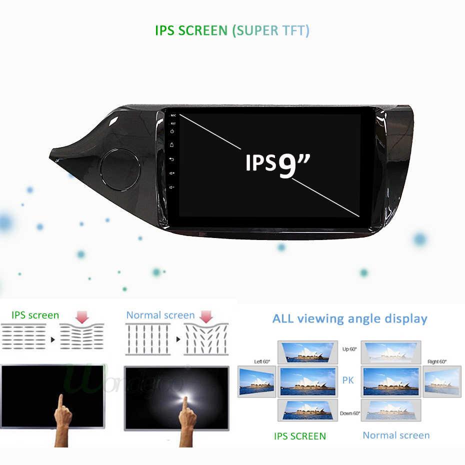 DSP Android 9.0 IPS 2.5D ekran 4G RAM 64G ROM radio gps dla kia ceed 2013 2014 2015 nawigacja stereo Audio jednostka główna nie DVD
