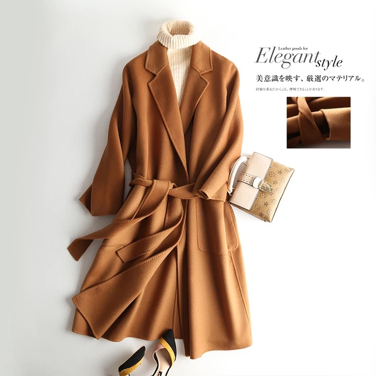 online store f42ea 608be Moda cashmere marca autunno Cammello giacca donna vintage ...