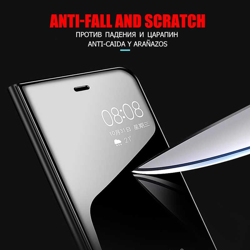 กระจกหนังสมาร์ทสำหรับโทรศัพท์ Xiaomi Redmi หมายเหตุ 7 6 Pro 4X5 ป้องกันกรณีสำหรับ Redmi 7 6 6A 4X5 ฝาครอบ