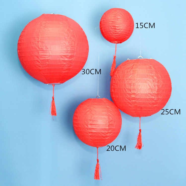 Trung quốc Giấy Đèn Lồng Màu Trắng Màu Xanh Màu Hồng Tím Vàng Đèn Cốc Cưới Tham Gia Trang Trí Sinh Nhật Đảng Treo Giấy Balls