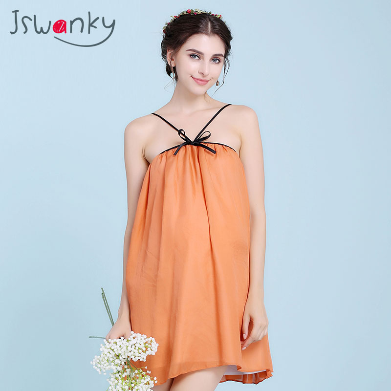 JSWANKY Silk Radiation Protection Bow Maternity Clothes Orange Tank Tops Vest Clothes For Pregnant Women Clothing Tank Camis silver fiber women clearance inventory radiation proof vest tops easing anti radiation maternity dresses rfid block apparel