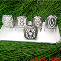 Spot goods Fast delivery for US businessman 1971/1977/1992/1993/1995  super bowl Dallas Cowboys silver Championship Ring set