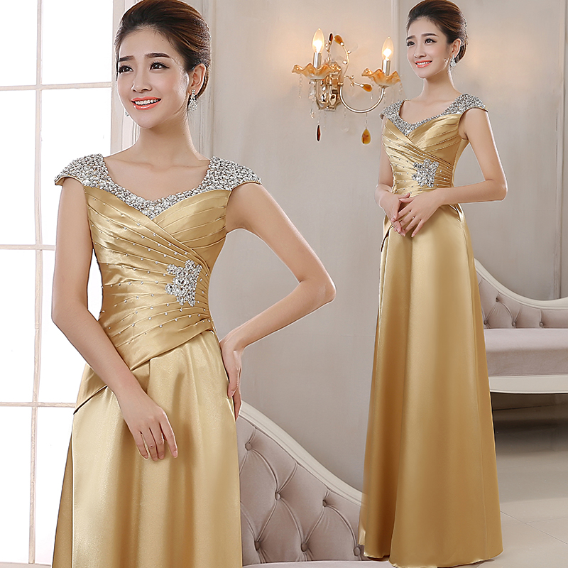 Ms. Dress 2018 New Style Party Dresses Women Host Long Costume Slim Elegant Chorus Dress