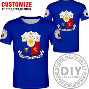 Image 4 - FILIPPINE maglietta fai da te numero nome personalizzato gratuito phl t shirt nazione bandiera ph repubblica pilipinas filippino stampa di testo foto abbigliamento