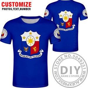 Image 4 - フィリピン tシャツ diy 無料カスタム名番号 phl tシャツ国民旗 ph 共和国 pilipinas フィリピンプリントテキスト写真服