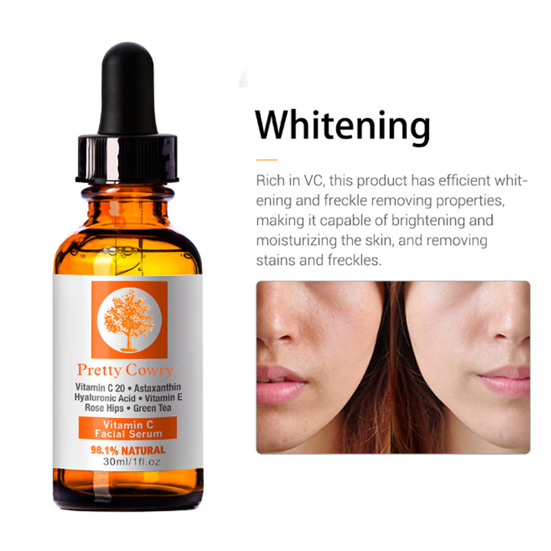 30ml Pretty Cowry Face Essence Hyaluronik Asit Serum Anti Wrinkle Vitamin C & E Skin Care Remove Acne Facial Cream Skin Care
