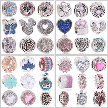 Couqcy Silver Charms Beads European Hollow Isolation Fit Original Pandora Bracelet Pendant Necklace DIY Jewelry