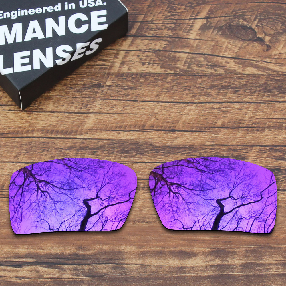 ToughAsNails Polarized Replacement Lenses For Oakley Eyepatch 2 Sunglasses Purple Mirrored (Lens Only)