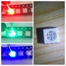 1000 Uds 5050 RGB SMD rojo verde azul SMT LED PLCC-6 3-CHIPS de luz diodos emisores lámpara PERLA para coche barco bicicleta de Color