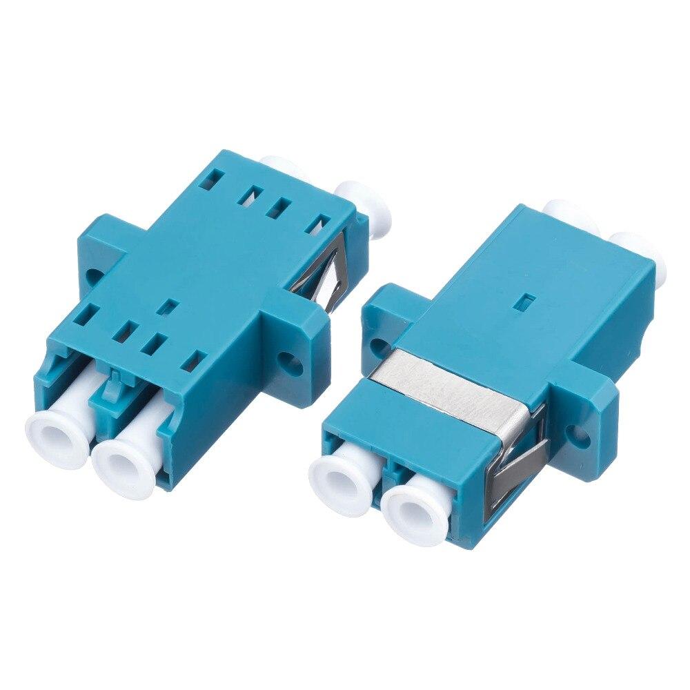 Free Shipping 50PCS LC-LC Duplex SM Fiber Optic Adapter FTTH LC UPC Flange Connector FTTH Fiber Optic Adapter