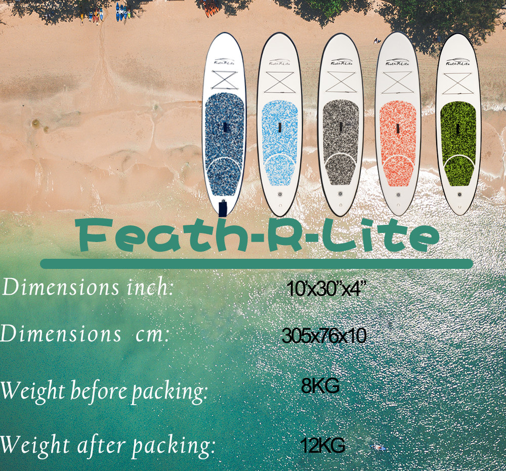 FunWater 305*74*10 centímetros Inflável Stand Up Paddle Board sup paddle paddle surf baord