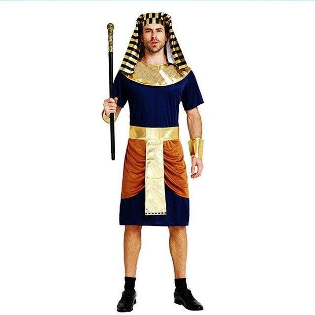 2018 Adultos Hombres Antiguo Egipto Traje Hombre Guerrero Cosplay - Trajes-de-hallowen