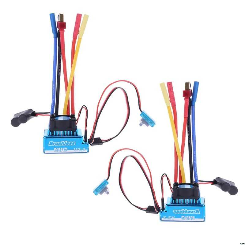 Waterdichte 45A 60A 80A 120A Borstelloze ESC Electric Speed Controller stofdicht voor 1/8 1/10 1/12 RC Auto Crawler RC Boot Deel