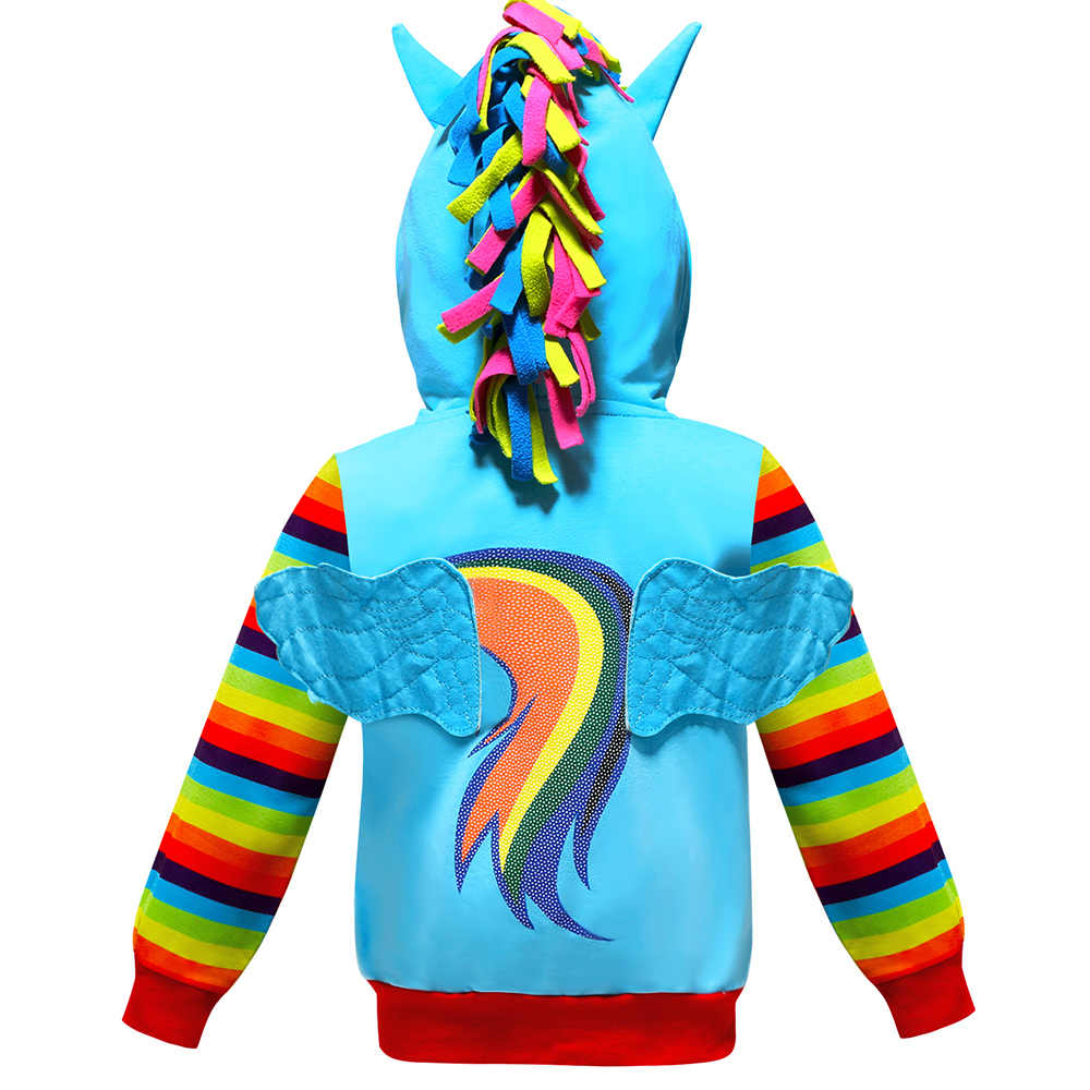 Primavera niños niñas chaqueta Arco Iris chaqueta nuevos niños niñas Arco Iris abrigo unicornio niños bebés Abrigo con capucha ropa para niños
