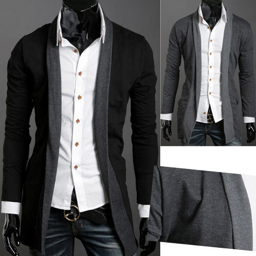 casual cotton comfortable simple cardigan slim men sweater outerwear sweathers young - E-Fashion Men store