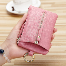 Women Key Holder Housekeeper Keys Genuine Leather Car Key Wallets Organizer Men Keychain Zipper Key Case Bag Coin Pouch Purse цены онлайн