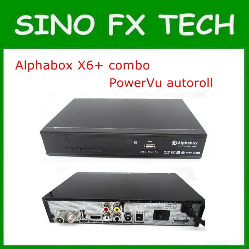 US $318 0 |2018 Alphabox X6+ Combo powervu autoroll DVB T2/C/S2 Combo  Satellite TV Receiver Support Cccam Newcamd Mgcamd Powervu Key-in Set-top  Boxes