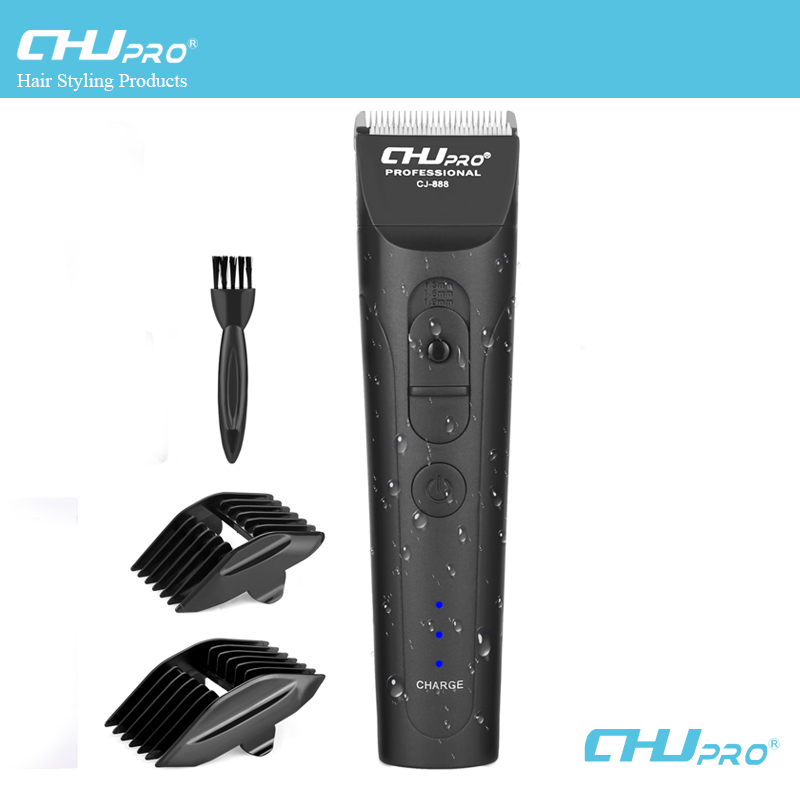CHJ professionnel tondeuse à cheveux 7 niveau étanche électrique rasoir tondeuse Rechargeable tondeuse à barbe Machine de découpe