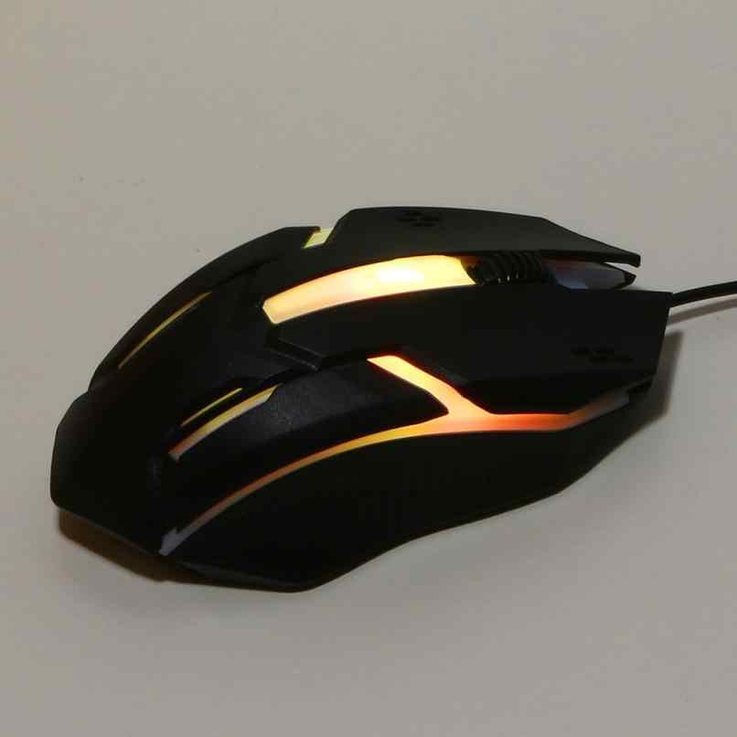 Binmer 1200 DPI USB souris filaire LED ordinateur de jeu optique Top marque Mini souris pour PC portable 18AUG7