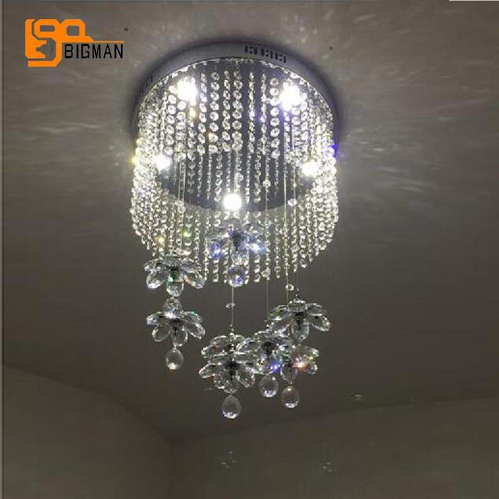 New Item Modern Crystal Flower Chandelier Res De Cristal Hallway Light Fixtures Bedroom Lamp In Chandeliers From Lights Lighting On Aliexpress Com