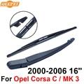 QEEPEI Задний Стеклоочиститель и Кронштейн Для Opel Meriva/MK 1 2002-2010 16 ''5 дверный MPV Высокого Качества Iso9000 Природных резиновые