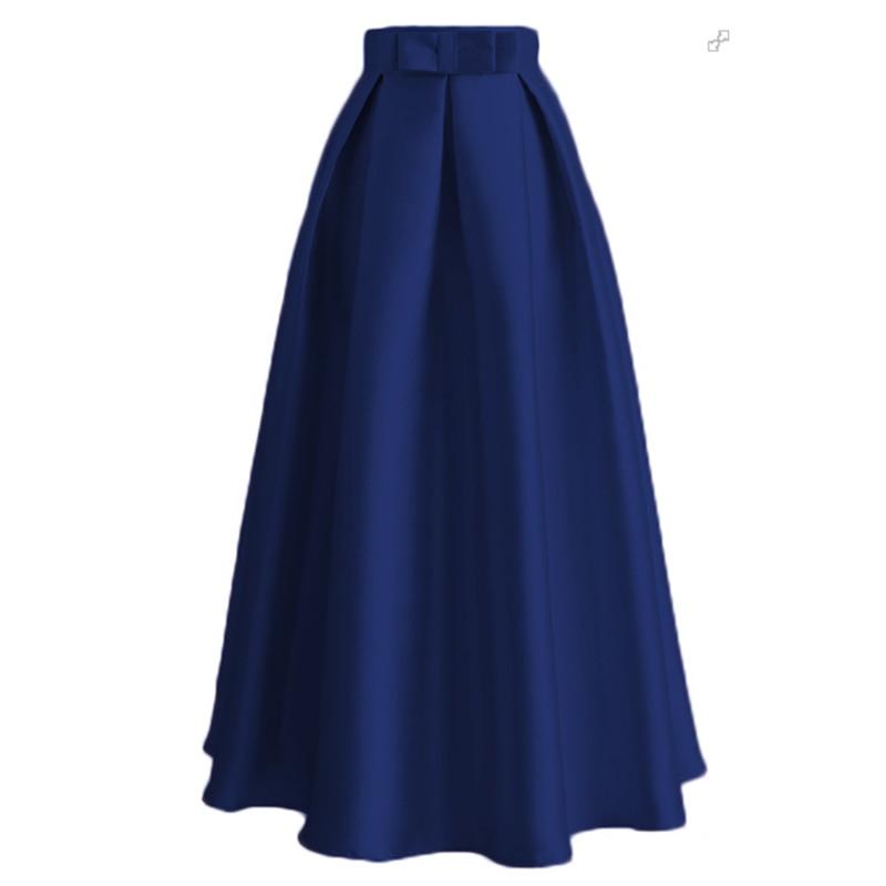 Plus Size Skirts Faldas Mujer Moda 19 Abaya Dubai Turkish Long Pleated Maxi High Waist Skirt Women Jupe Longue Femme Skirts 24
