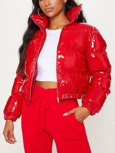 Image 5 - AtxyxtA الوردي فقاعة سترة منفوخة 2019 معطف الشتاء النساء الجير الأخضر الوردي الأصفر الأحمر الأسود