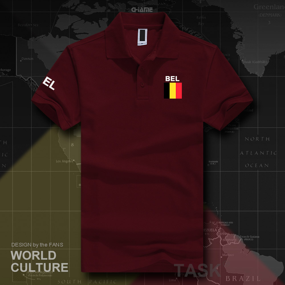 Belgium Belgian   polo   shirts men short sleeve white brands printed for country 2017 cotton nation team flag new fashion Belgique