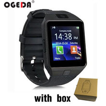 OGEDA 2019 NEW DZ09 Men women Smart Watch Male Smart Digital Sport Wrist Watch Support TF SIM Answer Call With Fitness Tracker(China)